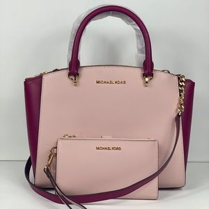 NWT Michael Kors Ellis Satchel & Wallet Set